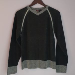 Two Tone V-Neck Sweater